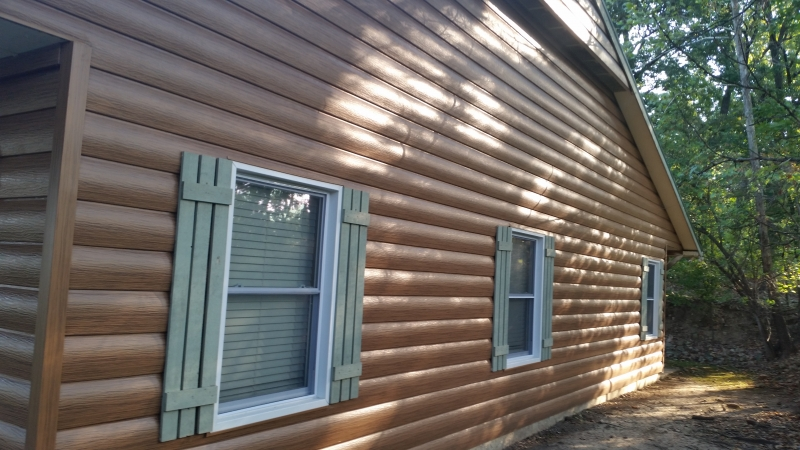 Soffit and fascia pryor creek ok chouteau locust grove for Steel log siding prices
